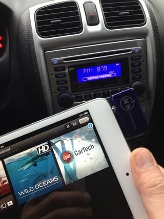 Elija cualquier podcast o los libros en la cinta desde tu iPad mini.