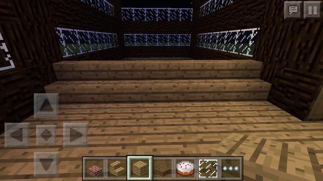 Ahora en el sitio de la cama probablemente notará una parte de s rectángulo que no se llena con tablones de madera. Hacer una fila de escaleras de madera.