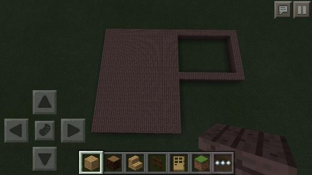 Luego llene el interior del rectángulo más grande, con tablones de madera de roble.