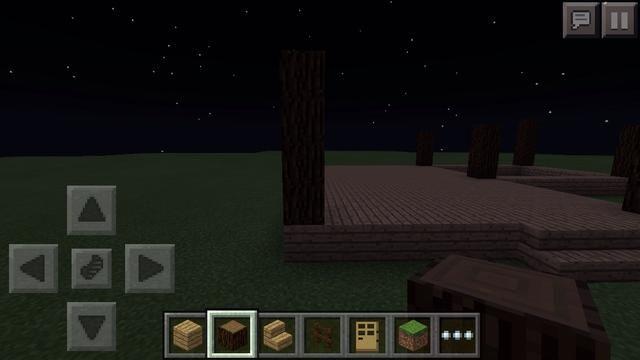 Ahora en cada esquina, construir un poste 4 cuadras en alto utilizando bloques de madera de abeto.