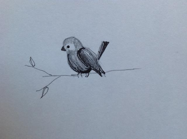 Dibuja una rama, y ta-da! Que dibujó un pájaro! Gracias por ver esta guía .... :)