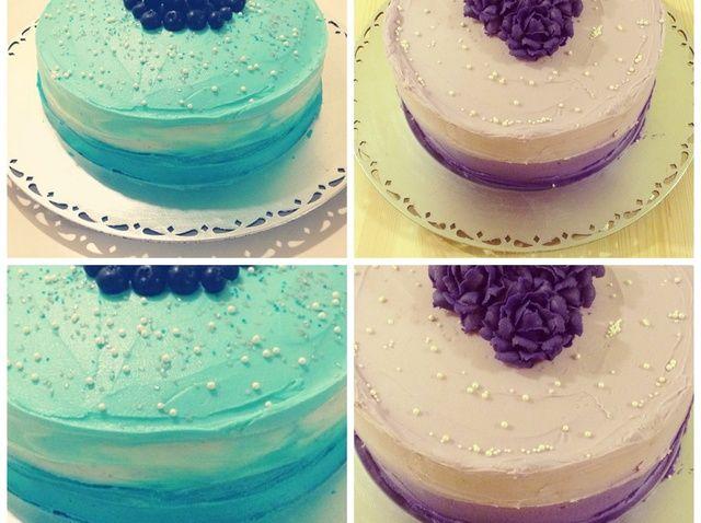 Cómo Cómo Frost una receta de pastel de la acuarela / Ombre Estilo