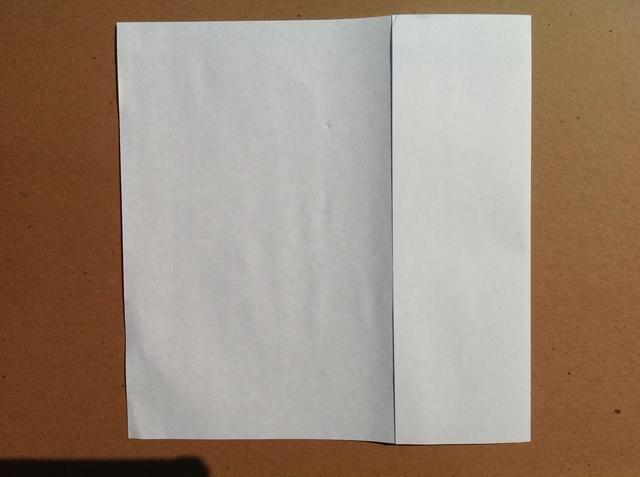 Doble el borde derecho hasta el pliegue central. Otro consejo de plegado es asegurarse de que la línea de sus bordes prolijamente cada vez que hagas un pliegue.