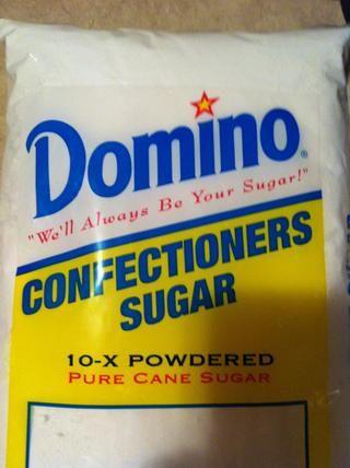 1 bolsa de azúcar en polvo
