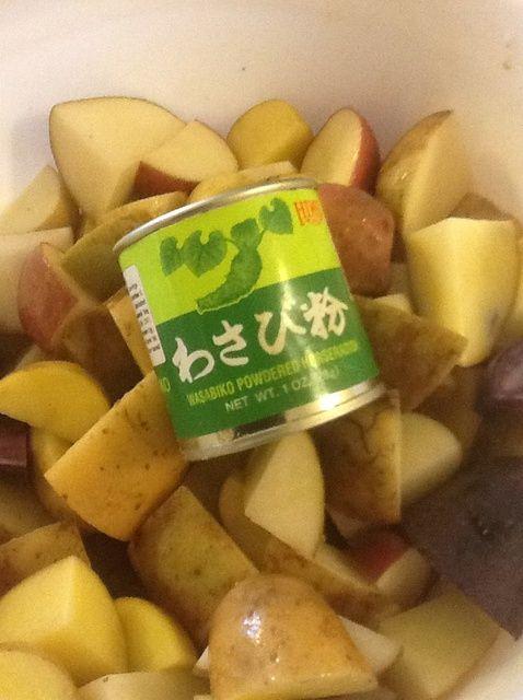 Cómo Cómo hacer ajo asado Wasabi puré de patatas Receta