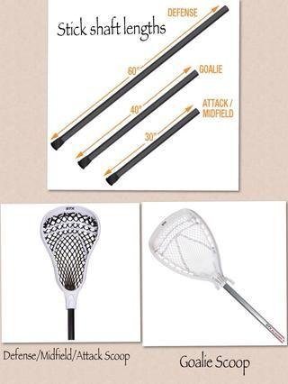 Las diferencias en los palos de lacrosse de acuerdo a las posiciones.