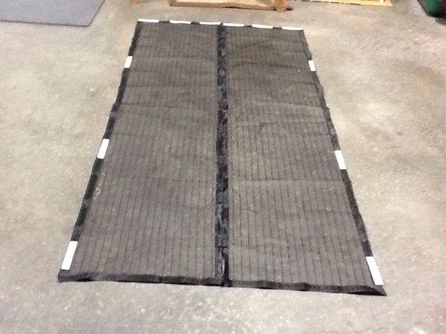 Velcro unido en las posiciones recomendadas por el fabricante de la pantalla.
