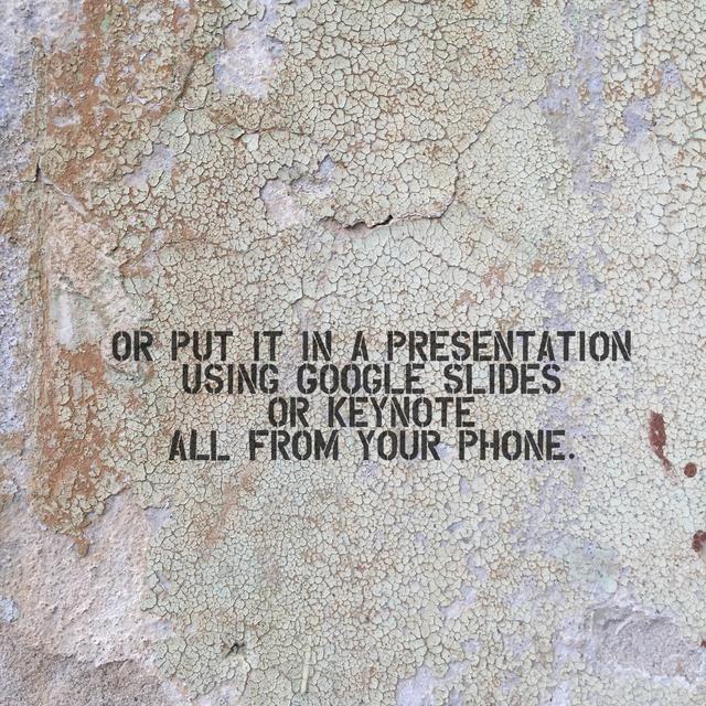 Esto dará a sus presentaciones un aspecto personalizado extra fresco.
