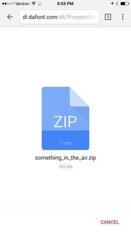 Se comenzará a descargar el archivo zip.
