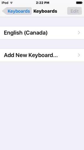Presione añadir nuevo teclado.