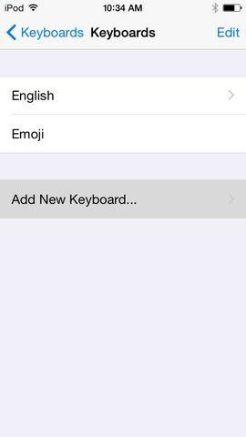 Y a continuación, agregar un nuevo teclado