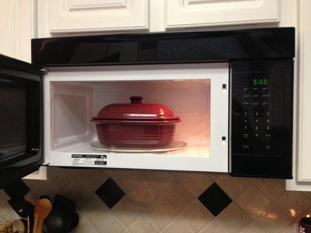 Cubierta panadero y lugar en Microondas. Cocer 5 minutos a alta.
