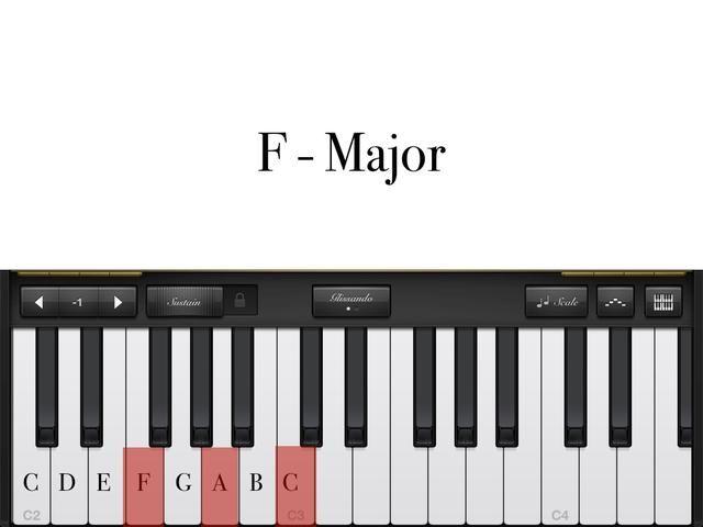 F-MAJOR: Primer dedo en''F''. 2nd finger on