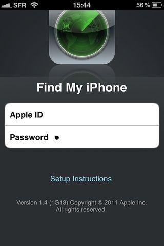 Escriba su ID de Apple y contraseña