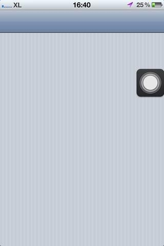 Finalmente conseguí una foto de la Botón AssistiveTouch. Espero que le da una mejor visual
