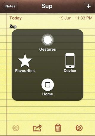 Pulse el botón de Asistencia Touch y el siguiente menú aparece. Grifo'Device'.