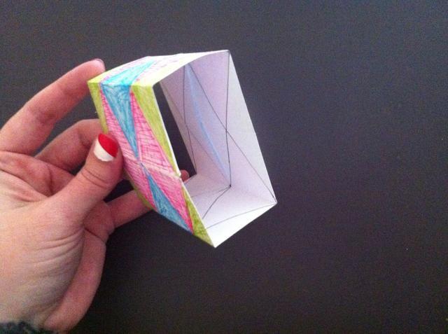 Forme cubo como este y luego en ...