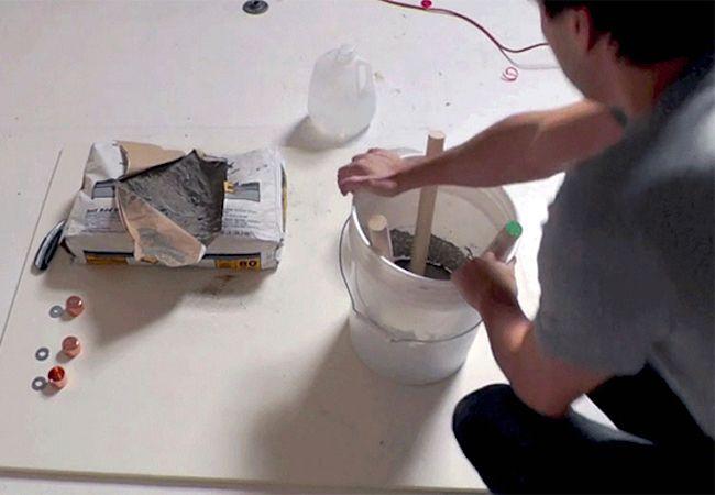 Cómo hacer un taburete de hormigón - Set Espigas