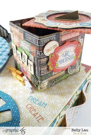 Pegatinas, pedazos de madera y adornos de metal para decorar la caja de almacenamiento poco