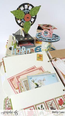 Se puede decorar el planificador como más te guste con el gráfico 45 papeles y tarjetas