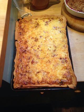 Después de 30 minutos, retire el hermoso quiche del horno. ¡¡Entonces come!!