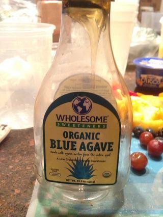 Preparar 1/2 tbls de agave