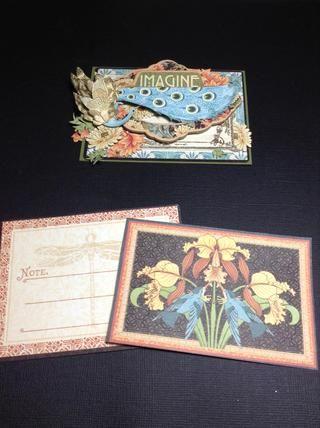 Para el interior de la tarjeta que he utilizado otros dos Artesano Estilo Ephemera Tarjetas ... en el amor !!!