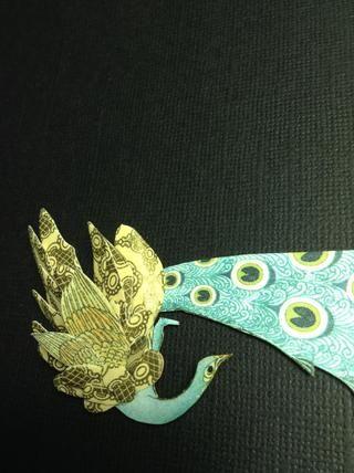 Para las alas del pájaro, he utilizado los pétalos de una flor Sizzix die..I han hecho esta alas con el gráfico 45 Washi Tape Set ... washi oro amor !!!!