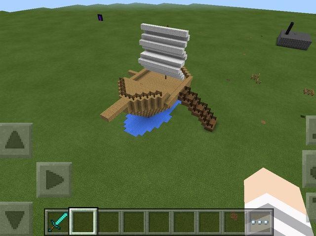 Cómo hacer un barco en Minecraft Pe