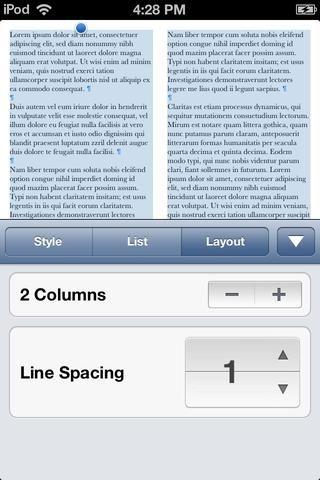 Asegúrese de que el texto todavía está seleccionado y vaya a la ficha de presentación. Cambiar las columnas a 2. Usted don't have to do this step.