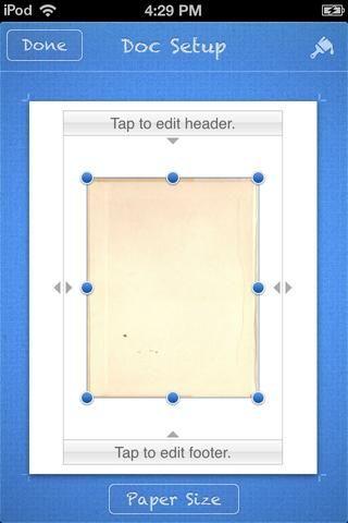 Tengo una foto de una página de libro vacío. Cambiar el tamaño de la misma.