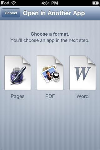 Toque en el formato PDF.