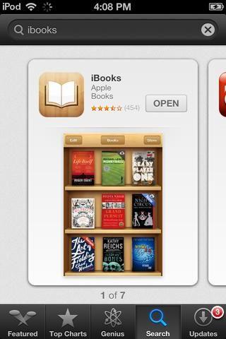 Descargue la aplicación iBooks de Apple desde la App Store. (Gratis.)