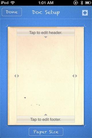 Toque en el BLUE + y, como se puede reunir, seleccionar la pestaña Papel y obtener una imagen de una textura agradable de usar para su ventaja libro.