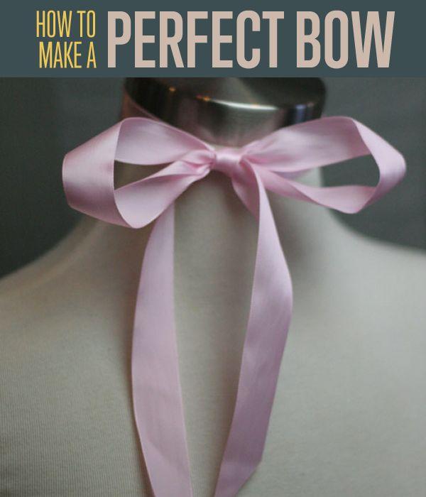Cómo hacer un arco perfecto de la cinta   Cómo atar un arco