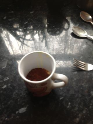 He utilizado un tenedor para mezclar.