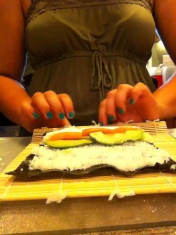 Rodando el sushi