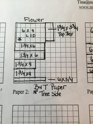 Cortar el papel de la flor usando este diagrama!