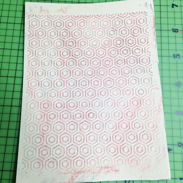 terminado fondo grabado en relieve, recorte de 5X4 ...