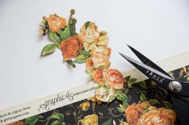 Cortar unas bonitas rosas del gráfico 45 de papel Un misterioso cuento de encantamiento!