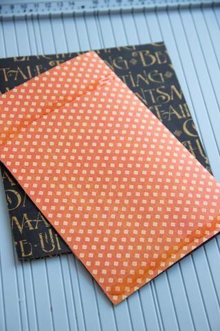 Usted necesita hacer una próxima carta (tamaño: 12/18 centímetros) del gráfico 45 de papel Un misterioso cuento Wicked rareza. Pegue a la primera tarjeta, hacer sólo dos tiras de pegamento - en la parte inferior y en la parte superior.