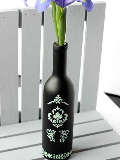 Cómo hacer una botella Jarrón Pizarra Vino