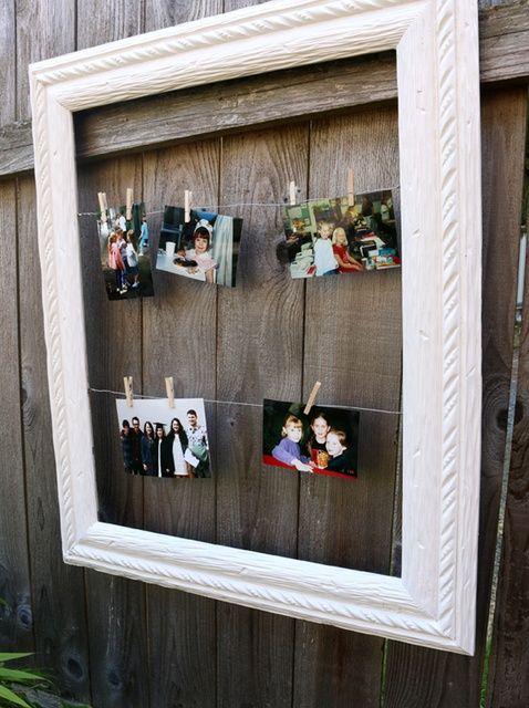 Cómo hacer una foto y Memoria marco cambiable