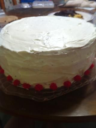 Elegí hacer sólo 3 capas, pero 4 capas son posibles. Hela pastel.