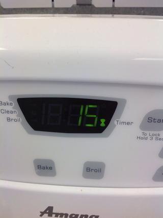 Hornear en el horno precalentado durante 15 a 20 minutos.