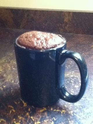 ¡Todo listo! (que, efectivamente, se levantan) El pastel es muy caliente, así que ten cuidado antes de comerla.