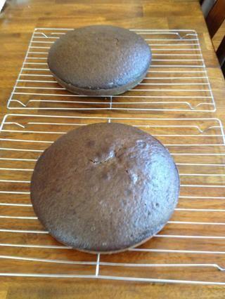 Deje que los pasteles se enfríen en las cacerolas durante 20 minutos. A continuación, ejecute tenedor alrededor del borde, golpee suavemente el contador de un par de veces, dar la vuelta a través de una quita de la cacerola.