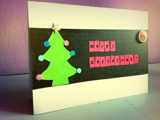 Cómo hacer una tarjeta de árbol de Navidad