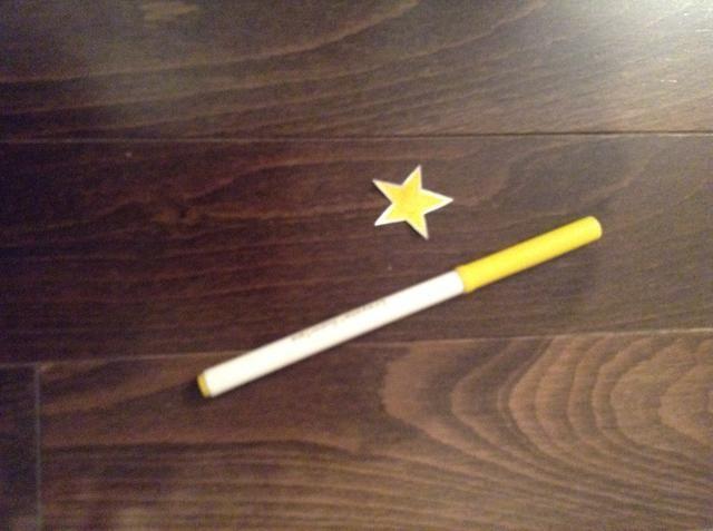 Pinta tu estrella amarillo u oro