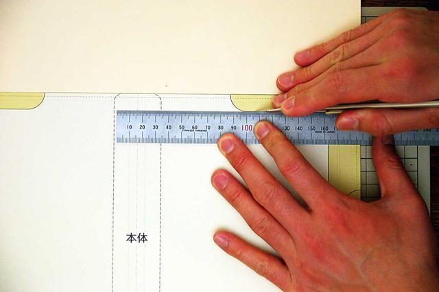 Cortar el cuero con un cutter.Be cuero cuidado de no cortarse los dedos!